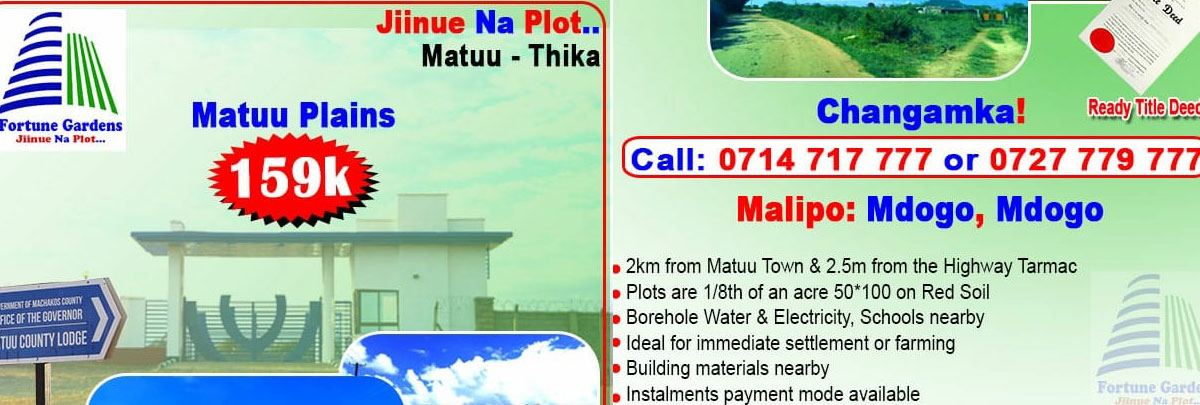 Matuu Plains - Ksh 159,000 /offer